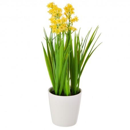 Planta con flor y maceta redonda Haus