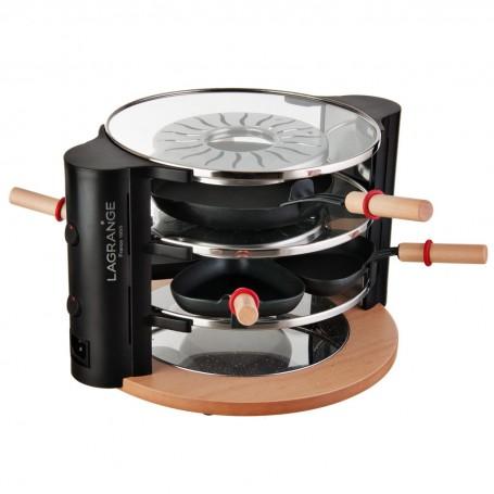Raclette de vidrio 3 niveles 900W Lagrange