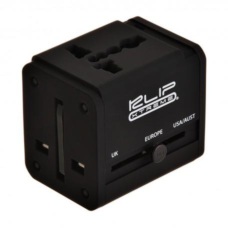 Adaptador de corriente universal con 2 puertos USB KMA-150 Klip Xtreme