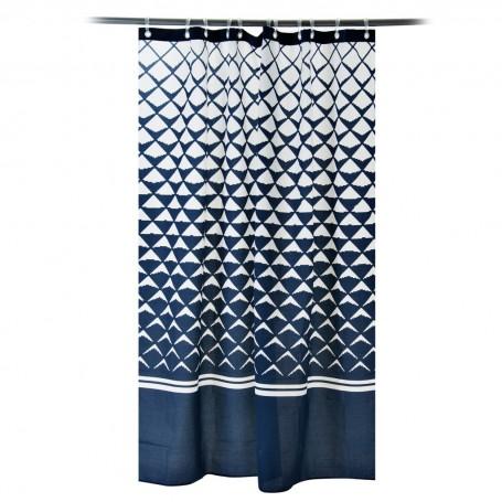 Cortina de baño con ojales Ivana Azul Casa Linda