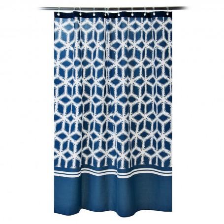 Cortina de baño con ojales Anker Azul Casa Linda