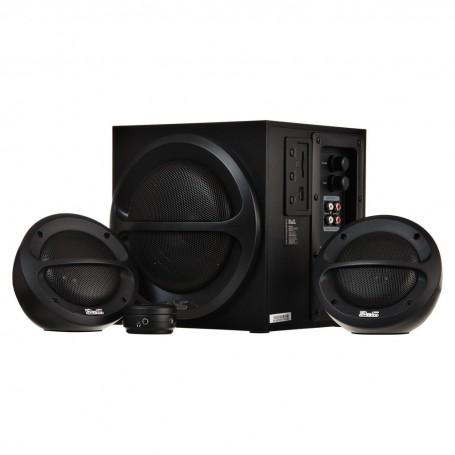 Parlantes estéreo 2.1 con reproducción de audio USB y SD 36W KES-350 Klip Xtreme