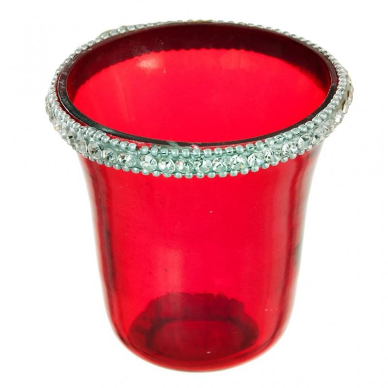 Porta votiva pequeña Brillante Rojo Haus