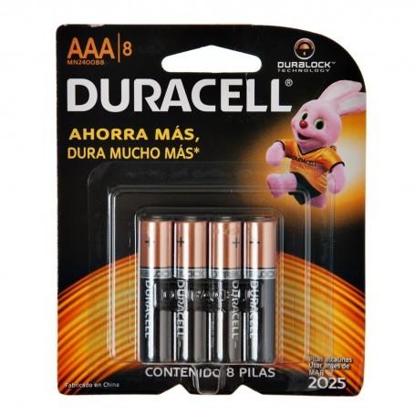 Juego de 8 pilas AAA 1.5V Duracell