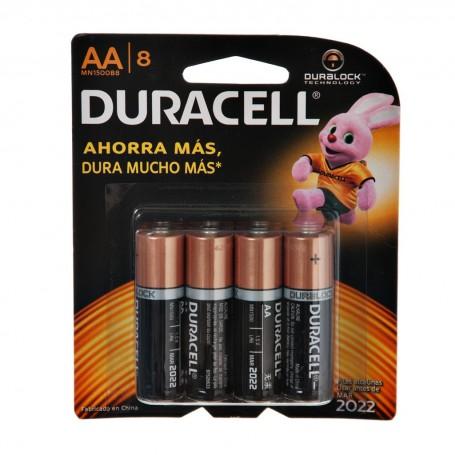 Juego de 8 pilas AA 1.5V Duracell