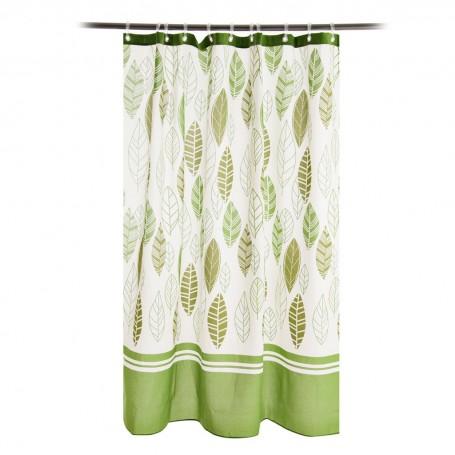 Cortina de baño con ojales Akira Verde Casa Linda