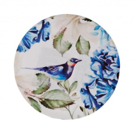 Posa vaso Flores Azul