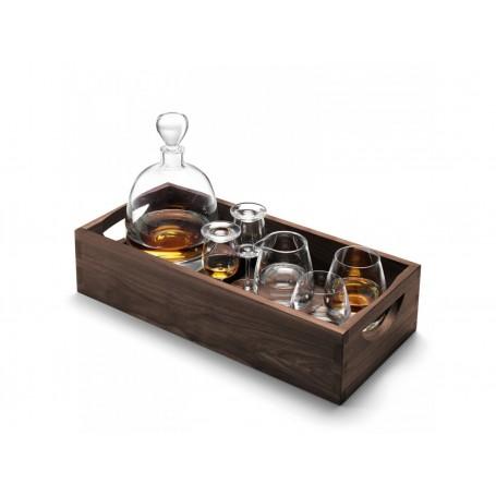 Bandeja con botella, copas y vasos para whisky LSA International