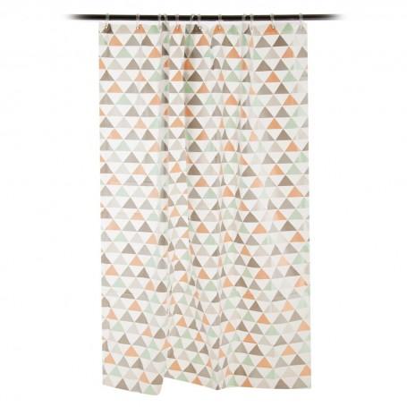Cortina para baño Triángulos Interdesign