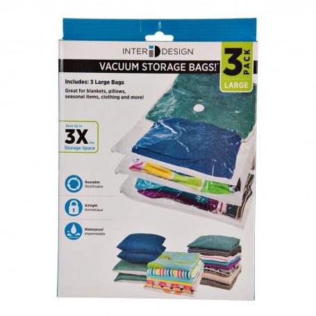 Juego de 3 bolsas para empacar al vacío Interdesign