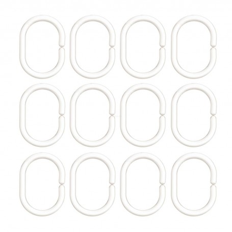 Juego de 12 ganchos para cortina Clear Basic Interdesign