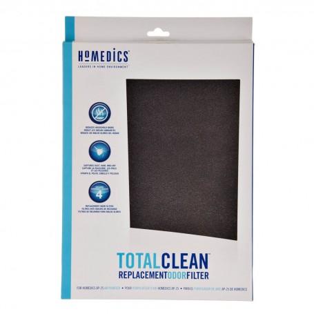 Juego de 4 repuestos para filtro de olores atrapa cabello / polvo / pelusa AP-25CRF Homedics
