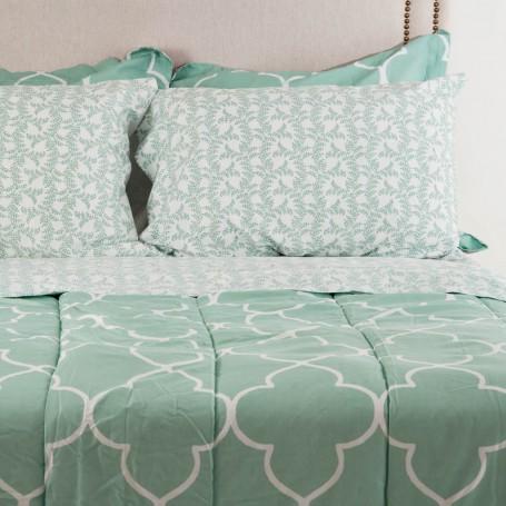 Juego de edredón, sábanas, faldón y fundas para almohadas Kensingtong Elite Home