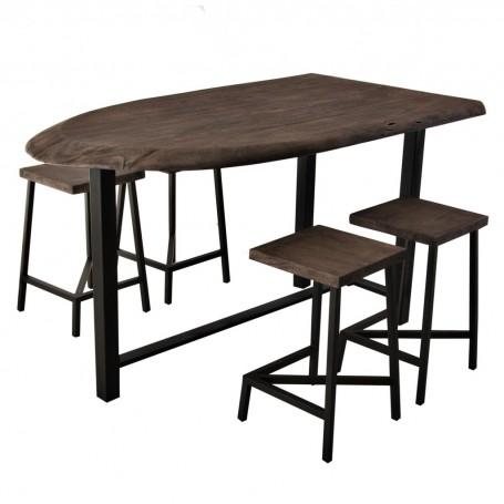 Mesa para desayunador con 4 bancos Hive Haus