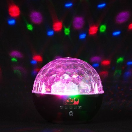 Parlante portátil Bluetooth con luz LED Disco / FM Mental Beats