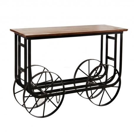 Mueble auxiliar rectangular con ruedas Haus