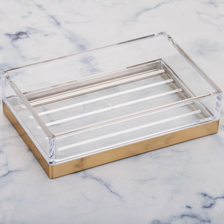 Jabonera de plástico Clarity Interdesign