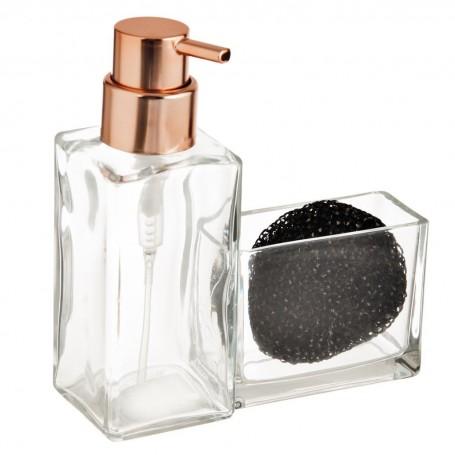 Dispensador para jabón de cocina con porta esponja Casilla Interdesign