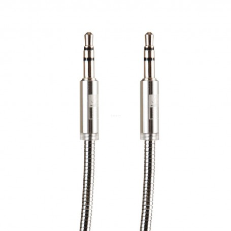Cable auxiliar metálico Silver Case Logic