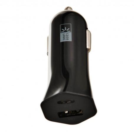 Cargador para auto 1 USB / 1 USB-C 3.1Amp Case Logic