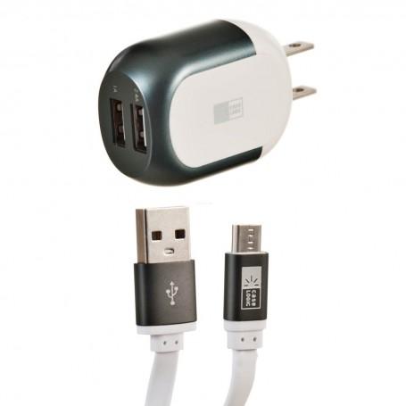 Cargador para pared con cable Micro USB 2.4Amp Case Logic