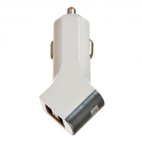 Cargador para auto 2 puertos USB 2.4Amp Case Logic
