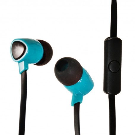 Audífonos con micrófono / cable plano Turquesa Case Logic