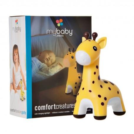 Lámpara para bebé con 5 colores y auto apagado a pilas / adaptador Jirafa Homedics