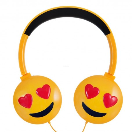 Audífonos diademas con cable Emoji Amor