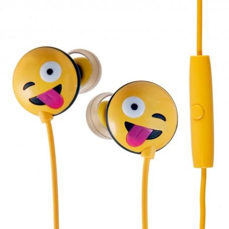 Audífonos con cable Emoji Mueca