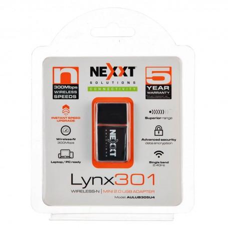 Adaptador USB Wireless 300Mbps Lynx 301 Nexxt