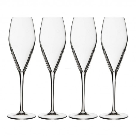 Juego de 4 copas para champagne Prestige Bormioli