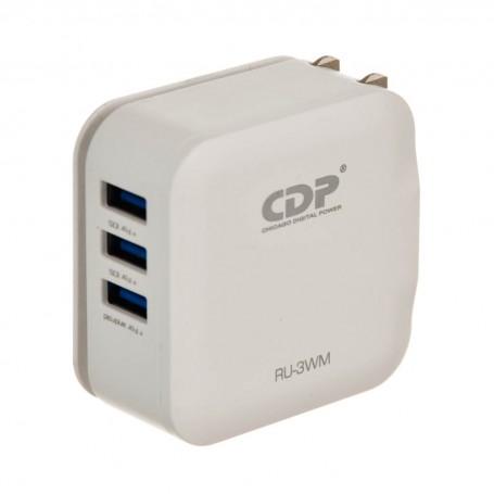 Cargador de pared 3 USB 3.1A / 1.5A Chicago Digital Power