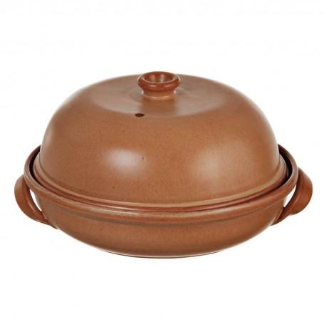 Cacerola paila con tapa Tabacco De Silva Ceramiche