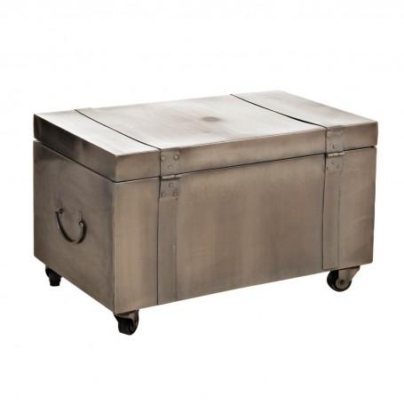 Baúl de hierro con ruedas Haus