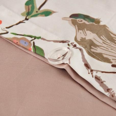 Juego de duvet Formosa Flor / Pájaro Satén Bovi Francisco