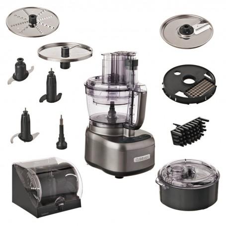 Cuisinart Procesador de alimentos con Sistema Hermético 8 tazas / 2 boles 550W FP-13DGM