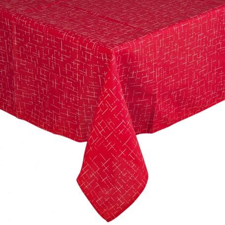 Mantel Lino Rojo Casa Linda