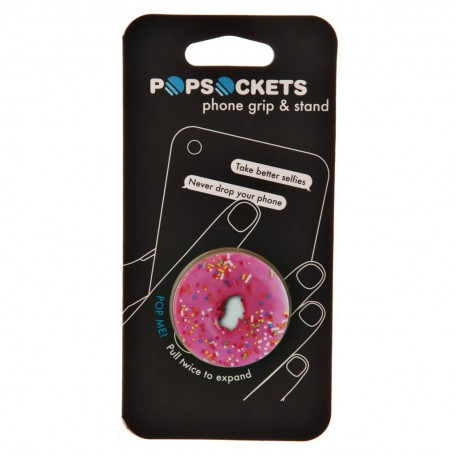 Soporte plegable para equipos electrónicos Pink Donut Popsockets