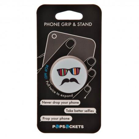 Soporte plegable para equipos electrónicos Mustache Rainbow Popsockets