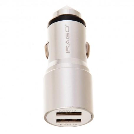 Cargador para auto 3.1A / 2 USB Irago