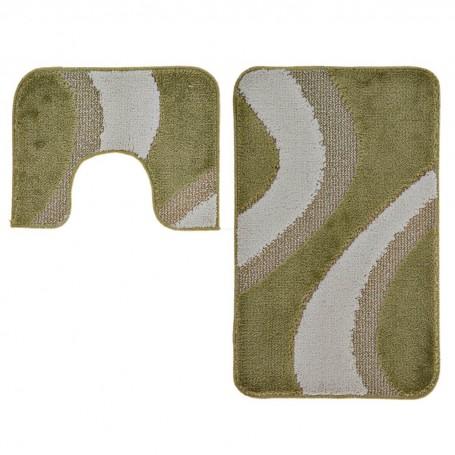 Juego de 2 alfombras con antideslizante para baño Evia Emmevi