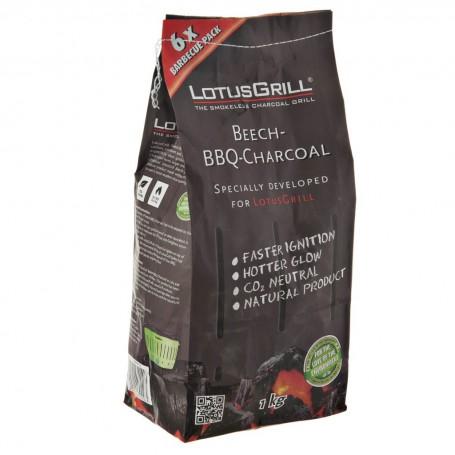 Carbón Libre de Humo Haya Natural LotusGrill