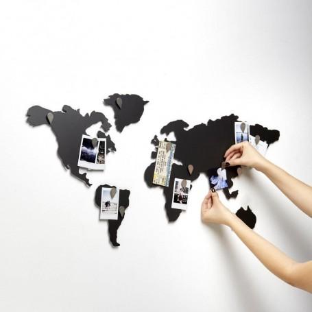 Aplique de pared para fotos Mapa Mundi Mappit Umbra