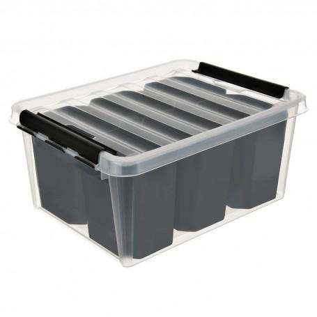 Caja organizadora con tapa y 7 cajones