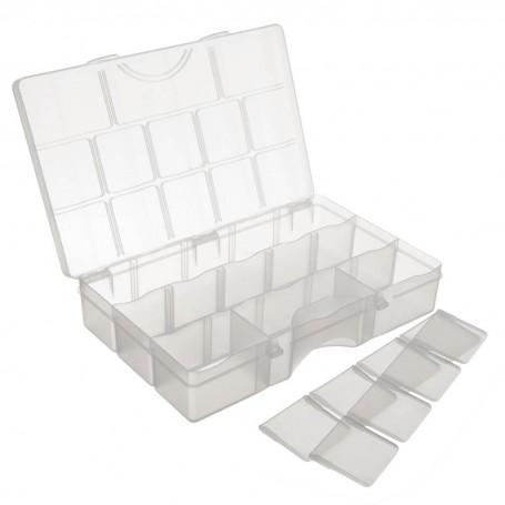 Caja organizadora con tapa y divisiones