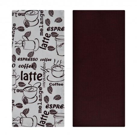 Juego de 2 toallas Café Latte 100% algodón Haus