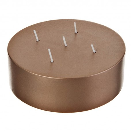 Vela metalizada para centro de mesa