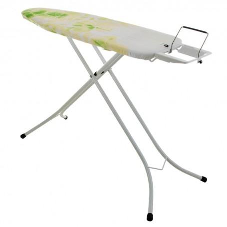 Tabla para planchar con soporte sólido para plancha / forro Hojas Blanco / Verde Brabantia