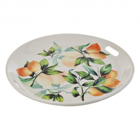 Fuente con asas Limones Ceramica Cuore